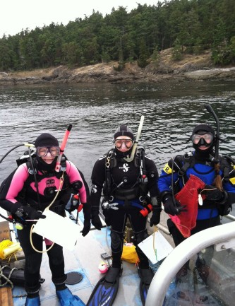 divers ready on the bow